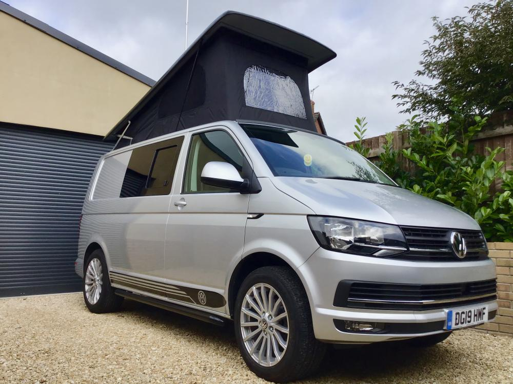 T6 VW Transporter Highline Campervan 2019 only 6000miles 4 Berth- AC- Cruise- New Pop Top Conversion.
