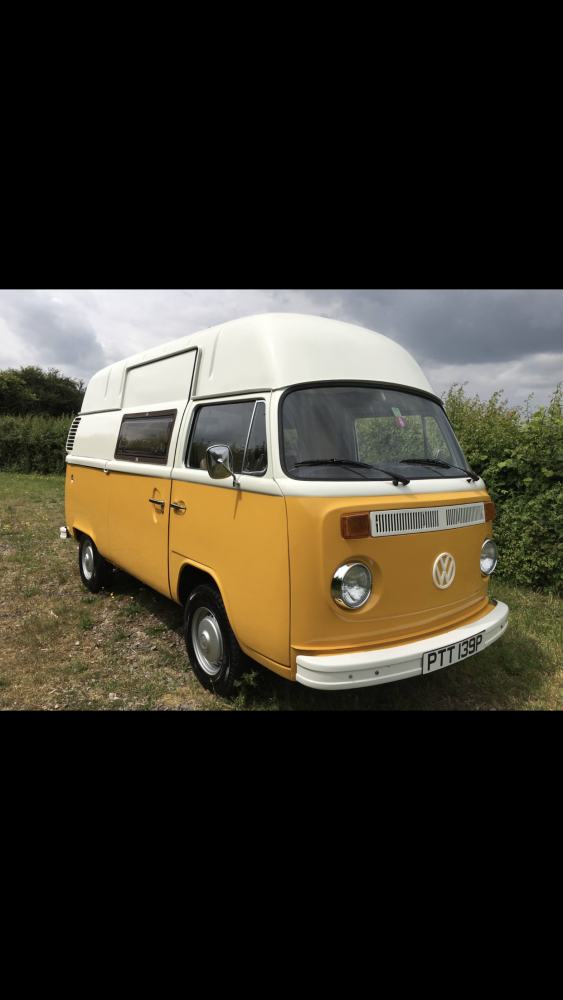 Very rare VW factory high roof campervan. RHD and only 50,000 genuine miles from new! Brand new camper van interior. DRY STORED!
