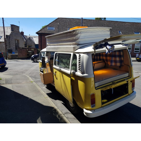 1975 T2 VW Camper with ZERO MILES ON WARRANTED BRAND NEW 1800CC engine supplied & fitted by VW Engine Company