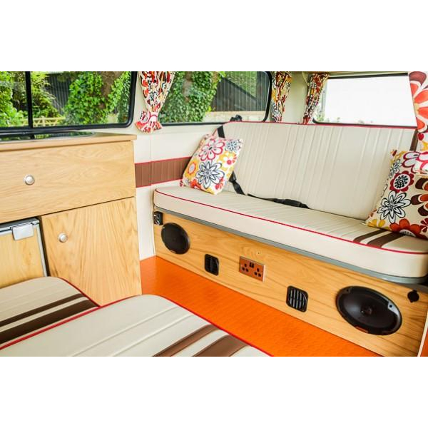 Right hand drive rust free Australian imported camper for sale with 6 months warranty and masses of retro fitted upgrades, power steering, central heating, solar panels and more.