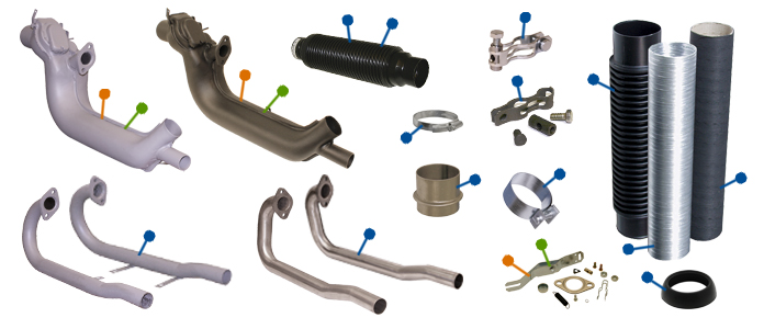 VW T2 Bay Exhaust Parts :: Just Kampers