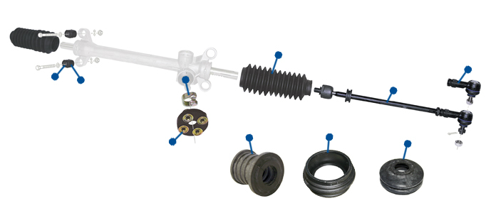 VW Type 25 Steering Components, Rack & Boots :: Just Kampers