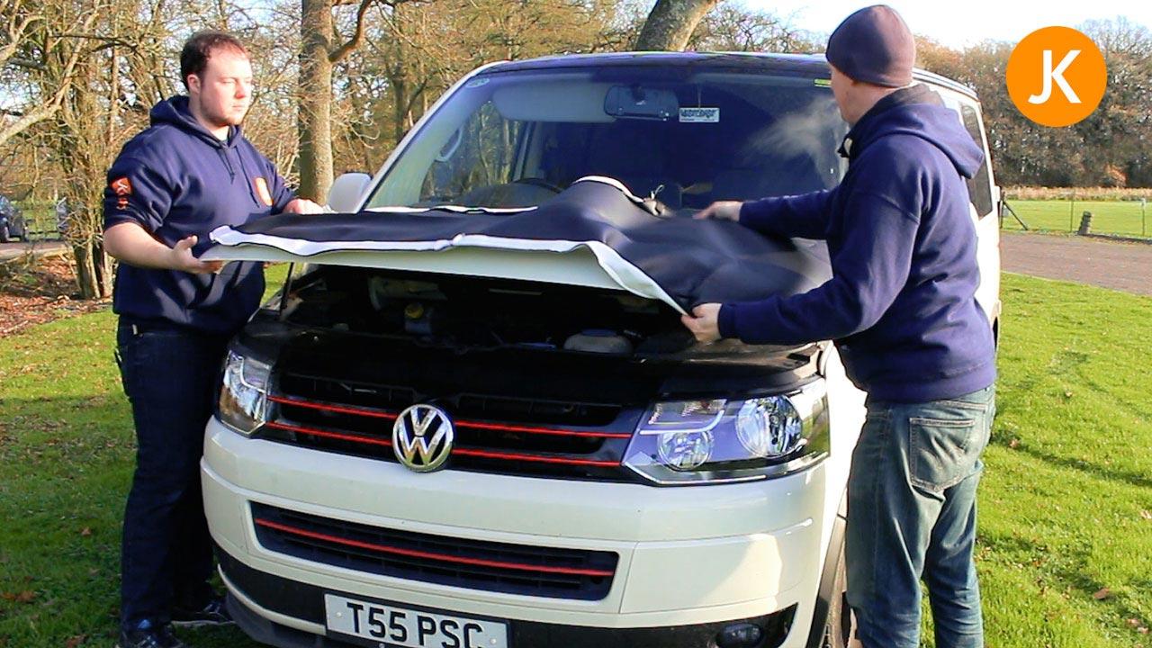 How To Fit A VW T5 Facelift Bonnet Bra