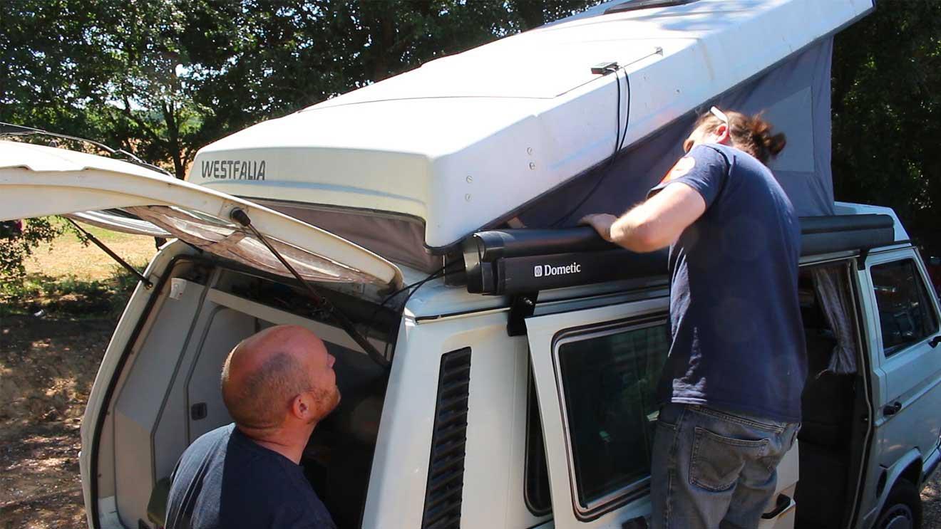 How To Install A 100W Solar Panel Kit (J42671) On A VW T25 Westfalia
