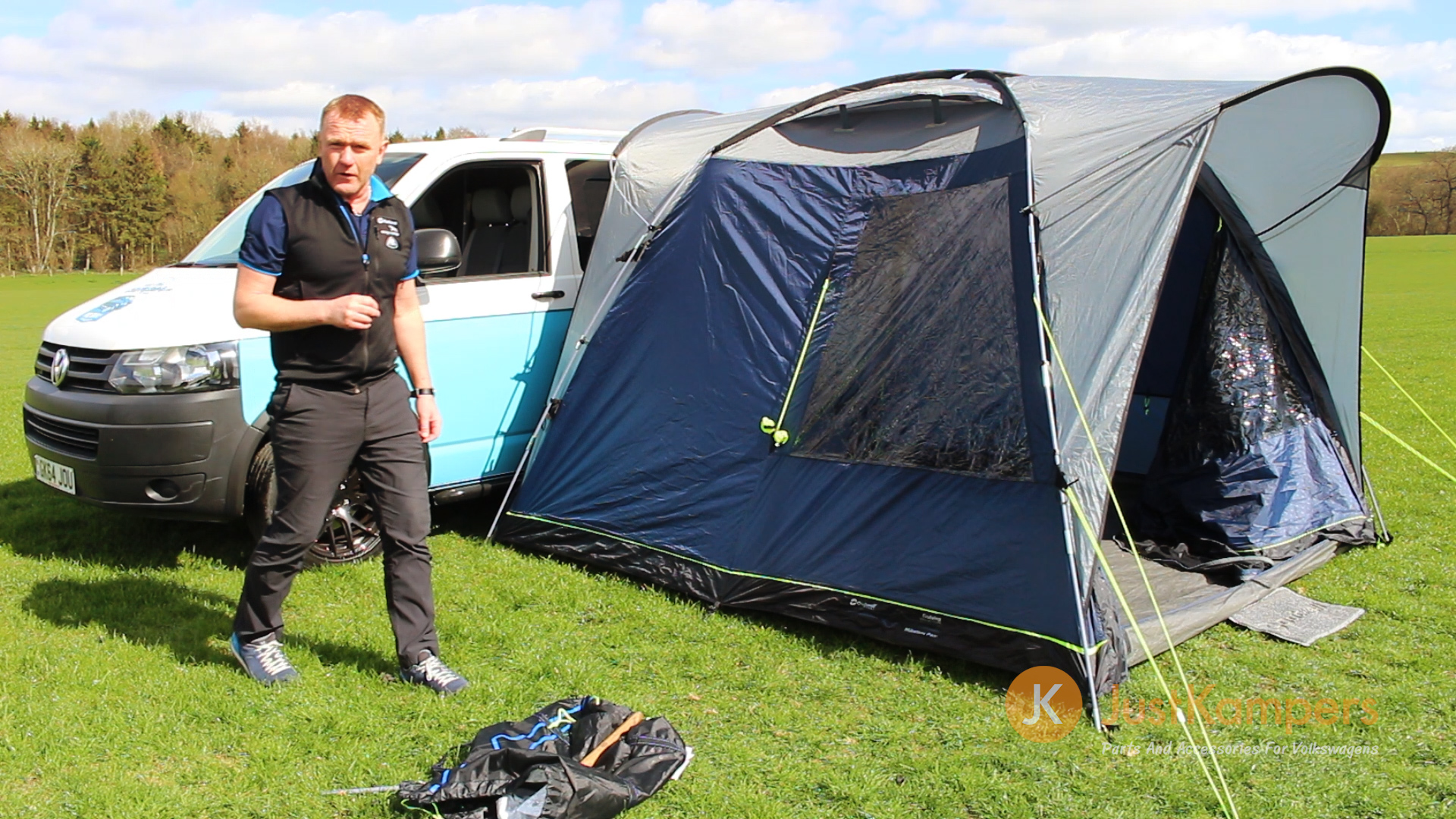 Outwell Milestone Pace Driveaway Awning - Part 1 (Pitching)