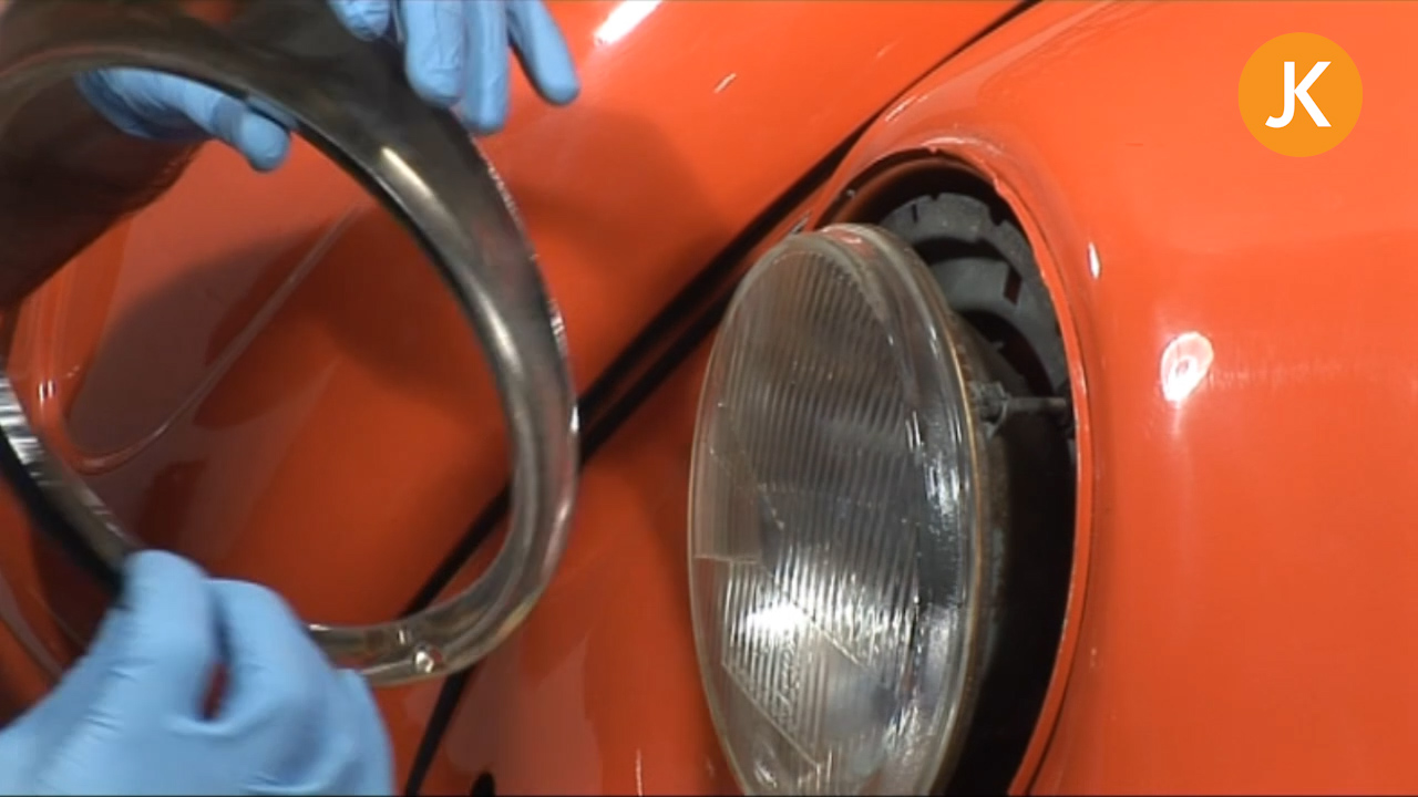 Changing a Headlamp Bulb on a VW Beetle