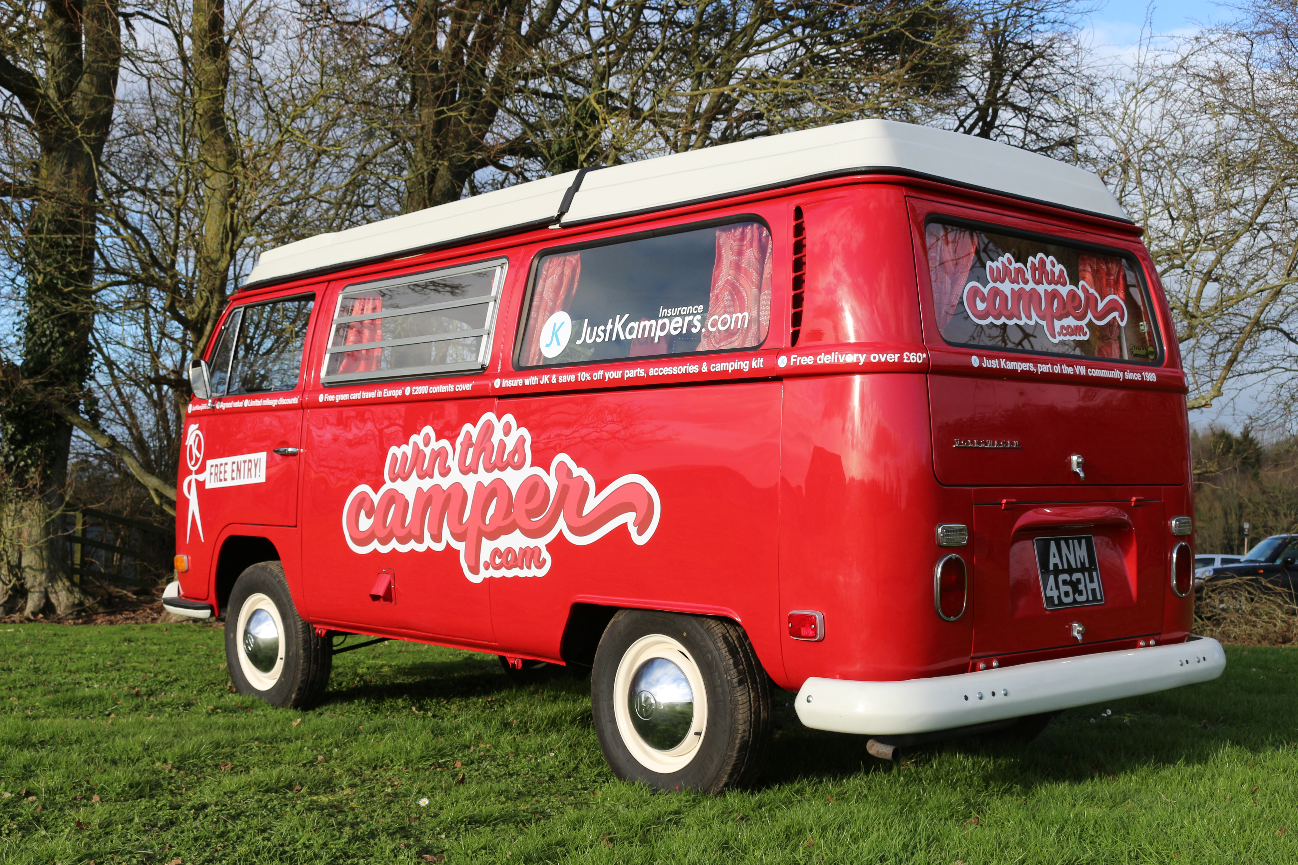 win this awesome volkswagen t2 westfalia camper  just