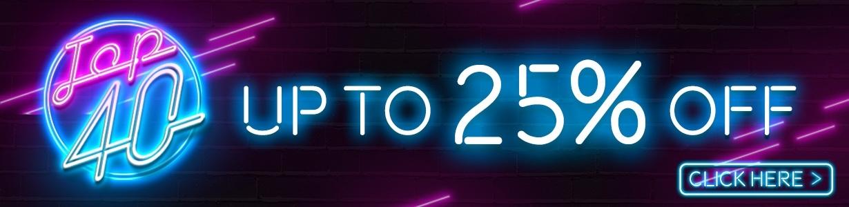 Top 40 Sale Banner