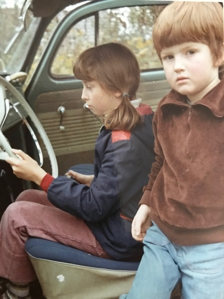Mark in a relatives Beetle as a child