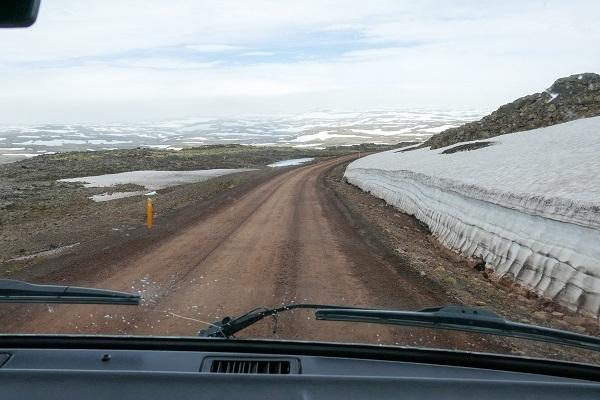 Gravel Road Snow