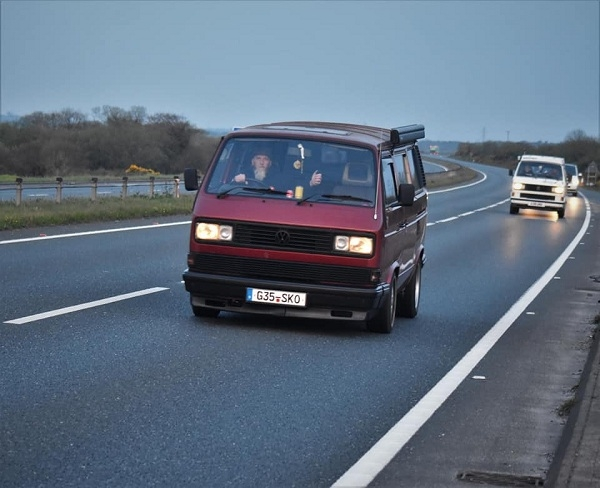 Weener's current love - his T25 on the LEJOG charity run
