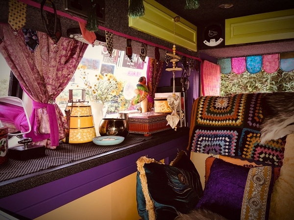 Dianne has customised Vanelope with a seriously cool interior